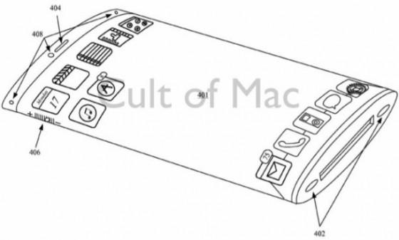 iPhone mit umlaufenden Display von Apple patentiert