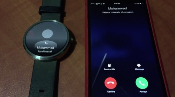 Android Wear: Video zeigt Anruf via iPhone auf Android Smartwatch