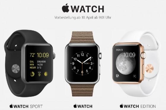 Apple Watch: Vorbestellung ab 10. April 09:01 Uhr offiziell