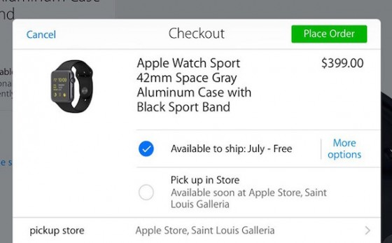 Apple Watch bald im Apple Store abholbereit
