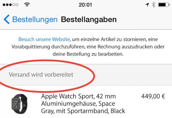 Apple Watch Sport: 42-mm-Modell in Space Gray wird versandt