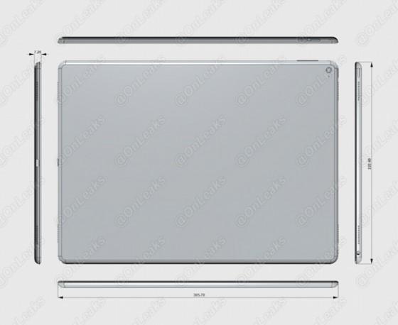 iPad Pro: Renderings zeigen angebliche Maße des Tablets